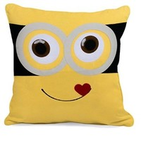 Minion Love, Family One Minion Face Pillow Case (16 x 16 one side)