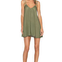 BLQ BASIQ Tank Dress in Olive