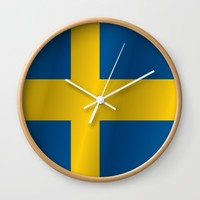 Flag of Sweden Wall Clock by PRODUCTPICS