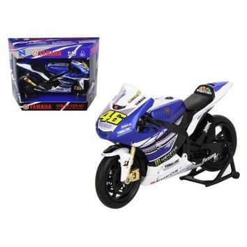 "2013 Yamaha YZR-M1 Valentino Rossi ""Monster"" Moto GP #46 Motorcycle Model 1/12 by New Ray"