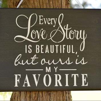 Rustic Wood Love Sign, Wood Wedding Sign, Wood Love Story Wall Hanging, Wooden Reception Decor, Rustic Home Decor, Wedding Sign Decor,