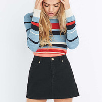 BDG Black Twill Super Mini Skirt - Urban Outfitters
