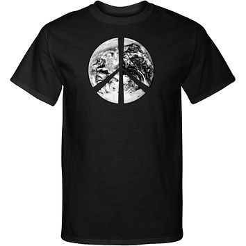 Buy Cool Shirts Peace T-shirt Earth Satellite Symbol Tall Tee