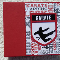 6x6 Premade Karate Scrapbook Album