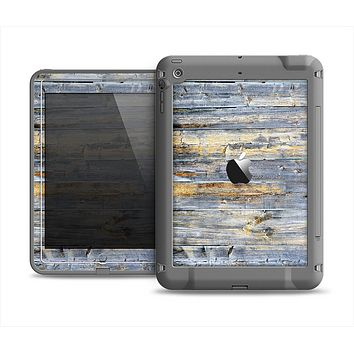 The Vintage Wooden Planks with Yellow Paint Apple iPad Air LifeProof Fre Case Skin Set