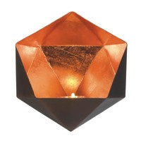 Copper Geometric Wall Sconce