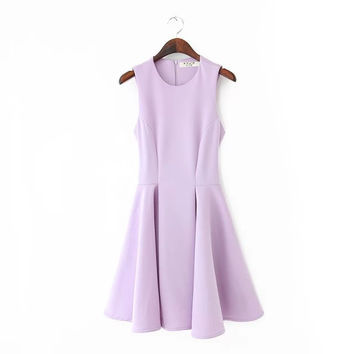 Summer Stylish Slim Sweets High Rise Sleeveless Vest Dress One Piece Dress [4917813828]