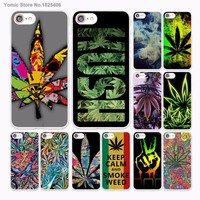 Abstractionism Art high weed Design hard White Skin Case for Apple iPhone 6 6s Plus 7 7Plus SE 5 5s 5c phone case