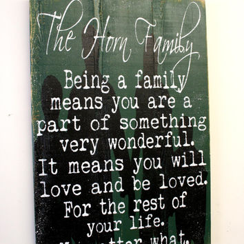 Being A Family Pallet Sign Family Room Sign Distressed Wood Sign Wood Wall Art Housewarming Gift Vintage Wood Decor Primitive Wood Decor