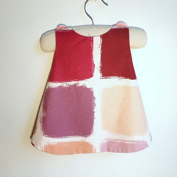 The Matisse Reversible Pinafore  6 months by chocolatineboutique