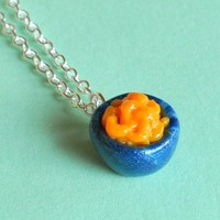 Bowl of Macaroni and Cheese Necklace by Pumpkinpye517 on Etsy