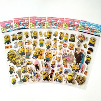 60 sheets Anime Minions stickers for Laptop Motorcycle Car Styling Luggage Phone Bicycle Accessories Vinyl Decals DIY Sticker