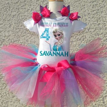 Frozen Birthday Tutu Outfit, Frozen Pink Tutu Outfit