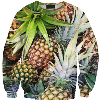 Hot Sale 3D Print Fruits Pineapple Ladies Pullover Hoodies [9012881732]