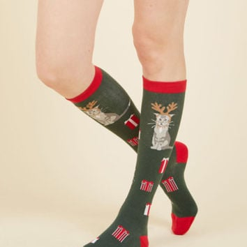 All the Right Antlers Socks | Mod Retro Vintage Socks | ModCloth.com