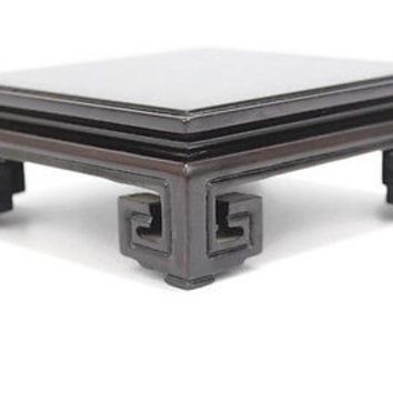 Brown Glossy Finish Wooden Chinese Pedestal Square Display Stand 3x3 to 9x9