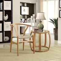 Modway Amish Dining Chair in Natural