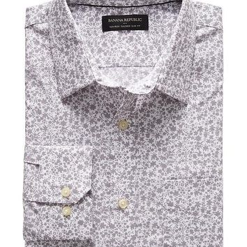 Banana Republic Mens Factory Tailored Slim Fit Non Iron Floral Shirt