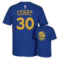 adidas Golden State Warriors Stephen Curry Player Name and Number Tee