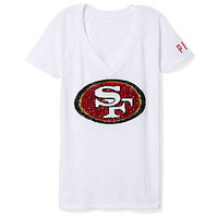 San Francisco 49ers Bling V-Neck Tee - PINK - Victoria's Secret