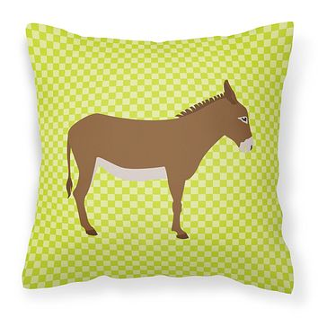 Cotentin Donkey Green Fabric Decorative Pillow BB7675PW1414