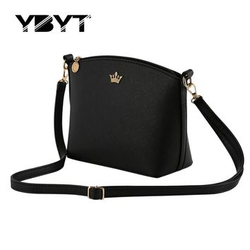 YBYT Casual Cross-Body/Shoulder Imperial Crown Small Messenger Handbag/Purse