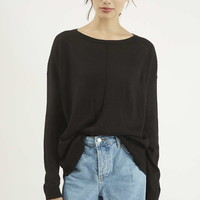 Ribed Ladder Detail Jumper - Topshop