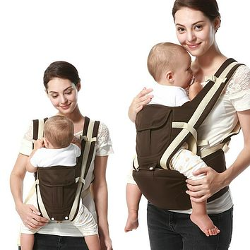 Ergonomic Baby Carrier Backpack Breathable Cotton Sling for Baby Wrap Rider Canvas Front Backpack