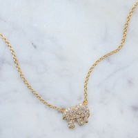 Gold Pave Charm Necklace