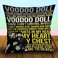 Voodoo Doll 5 Seconds Of Summer Art Lyrics - Pillow Case, Square and Rectangle One Side/Two Side.