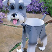 Mini Schatzie the Schnauzer Planter