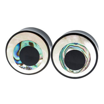 "Evil Eye Horn+ Abalone + MOP Inlayed (1""mm) #7702"