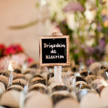 Wedding Candy Bar Chalkboard Signs Rustic Chic by braggingbags