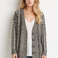 Buttoned Cable Knit Cardigan