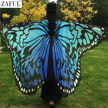 ZAFUL 2017 Pareo Beach Cover Up Butterfly Wing Cape Bikini Cover Up Swimwear Women Robe De Plage Beach Bathing Suit Cover Up