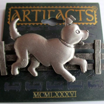 JJ Puppy Dog Vintage Pin - Jonette Jewelry brooch accessory- Unique Gift under 20- Artifacts collectible dog lover