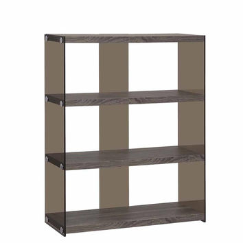Coaster Fine Furniture Bookcase Weathered Grey 800526