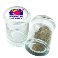 Stash Jar - Glass Pop Top - Toca Bowl  - Storage Container -  Custom Herb Grinder Secret Stash Box - Stay Fresh Herbs 1/6 oz.