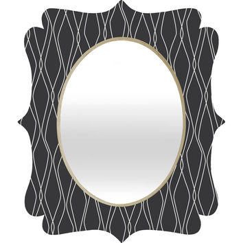 Heather Dutton Fuge Slate Quatrefoil Mirror