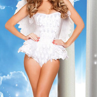White Bodysuit Angel Costume