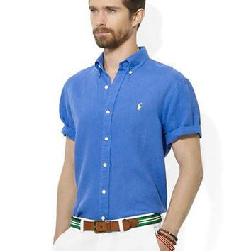 Polo Ralph Lauren Classic-Fit Short-Sleeved Linen Sport Shirt