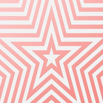 Printed Star Pink Line Pattern Background - 6933