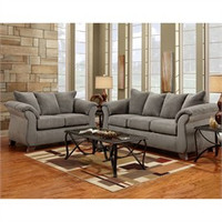 Grey Living Room Set  - Flash Furniture 6700SENSATIONSGREY-SET-GG