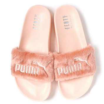 Puma X Rihanna Leadcat Fenty Women/Men Lover Fur Slipper Shoes