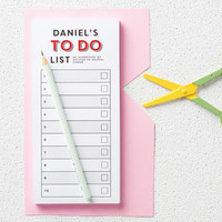 Personalised To Do List Notepad