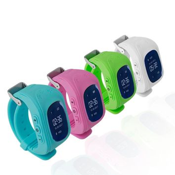 Professional Q50 OLED Display  Kids Smart Wrist Watch GPS Tracker Waterproof