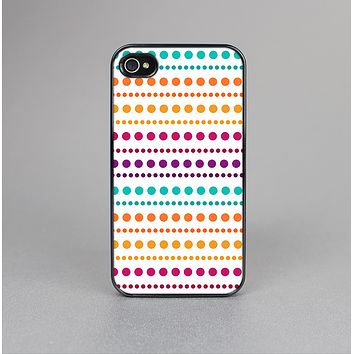The Colorful Polka Dots on White Skin-Sert for the Apple iPhone 4-4s Skin-Sert Case