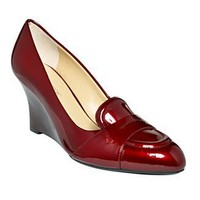 Circa by Joan & David Shoes/ Ruby Red Patent Manni Wedges / Macy's