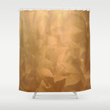 Brushed Copper Metallic Shower Curtain by Corbin Henry
