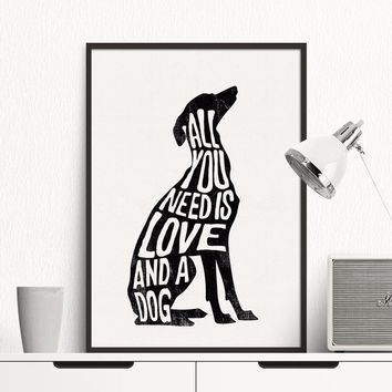 Canvas Art Paintings Dog Minimal Modern Abstract Oil Painting Wall Pictures for Living Room No Frame